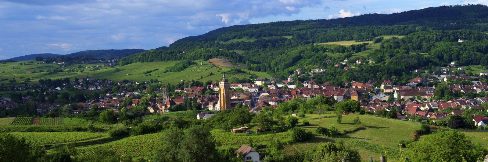 Vue panoramique d'Arbois